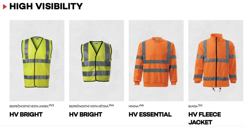 High visibility - vysoká viditelnost