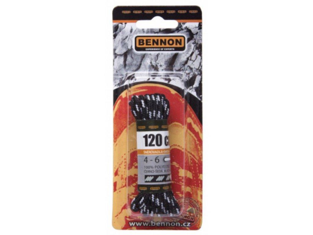 Šněrovadlo Bennon černo-šedé
