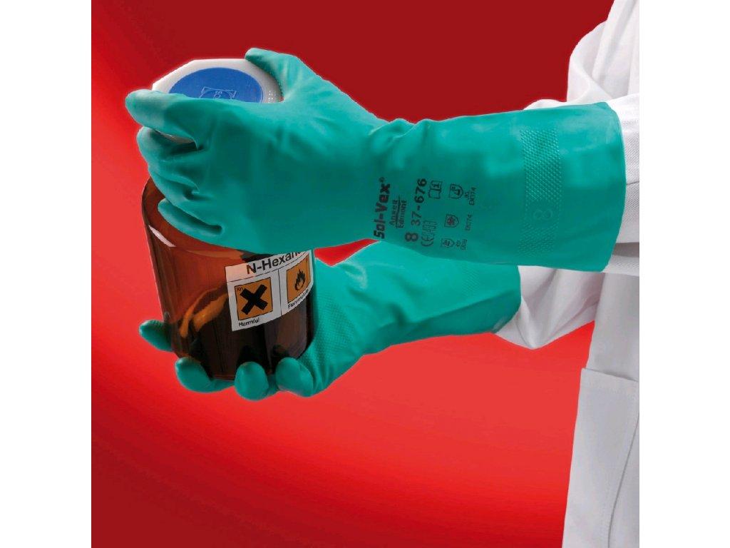 Rukavice AlphaTec® Solvex® 37-676
