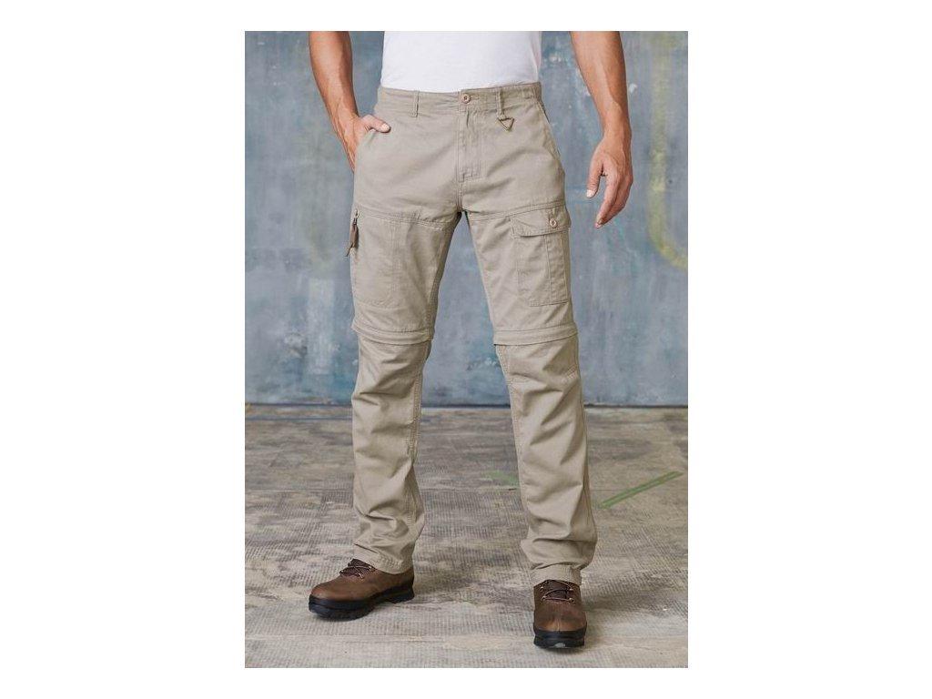 Pánské kalhoty s odepínacími nohavicemi K785 - béžové - vel.52