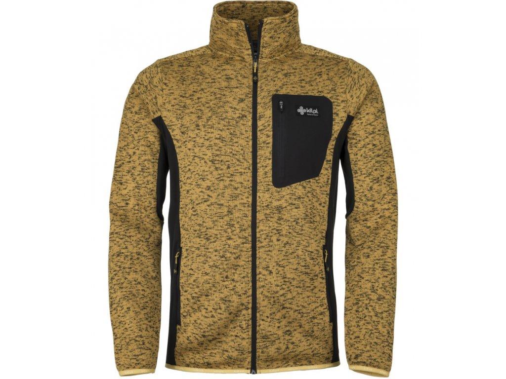 Pánská fleecový svetr KILPI RIGAN žlutý