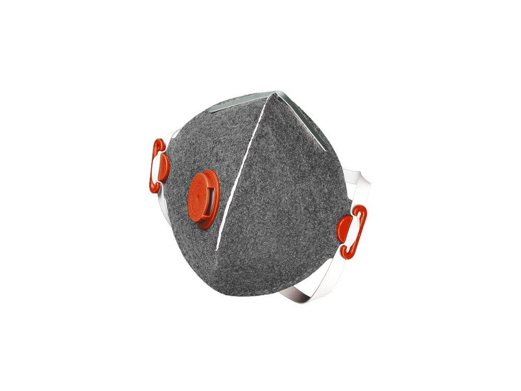 SEGRE FFP3 NR D respirátor s výdechovým ventilkem s aktivním uhlím