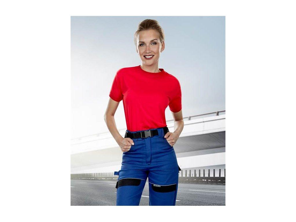 Kalhoty pas COOL TREND dámské modro-černé