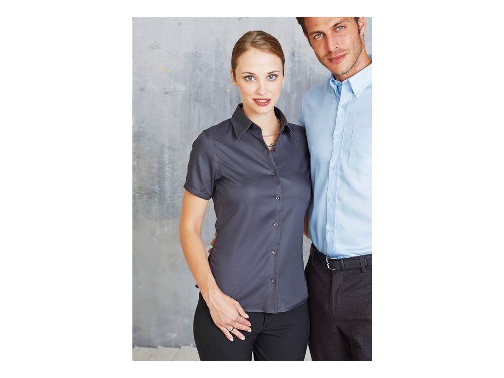 Dámská košile s krátkým rukávem v nežehlivé úpravě K540