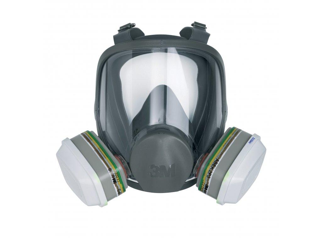 Celoobličejová maska se dvěma filtry 3M