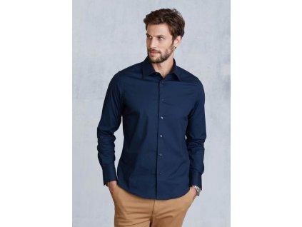 Pánská strečová košile s dlouhým rukávem K529 dc70d21b0d