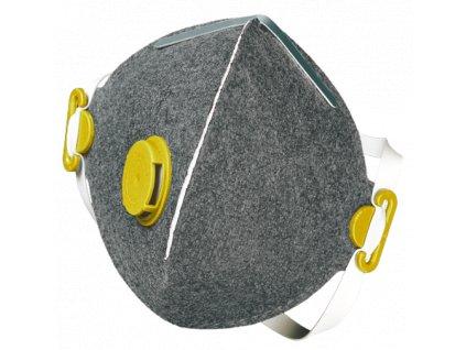SEGRE FFP2 NR D respirátor s výdechovým ventilkem s aktivním uhlím