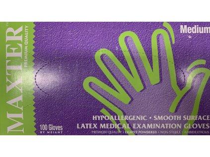Latexové rukavice MAXTER pudrované 100ks bílé