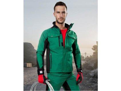 PRE100 soft. bunda zeleno-černá