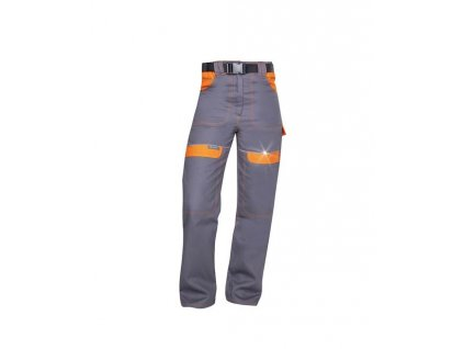 Kalhoty do pasu COOL TREND dámské šedo-oranžové