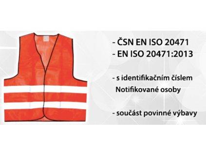 Výstražná reflexní vesta ČSN EN ISO 20471