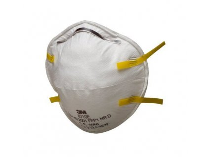 en149 8710 unvalved respirator yellow strap
