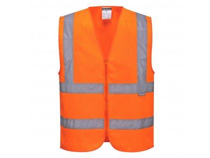Hi-Vis Zipped Vest
