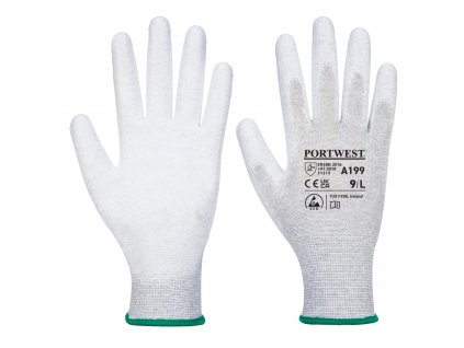 Antistatická rukavice PU dlaň