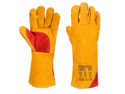 Zesílená zimní svařovací rukavice
