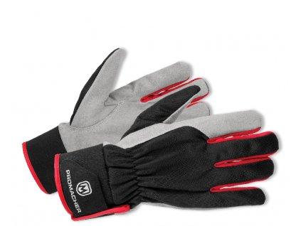ProM CARPOS VELCRO Gloves grey/red 12 párů