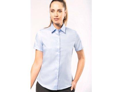 Dámská košile s krátkým rukávem v nežehlivé úpravě