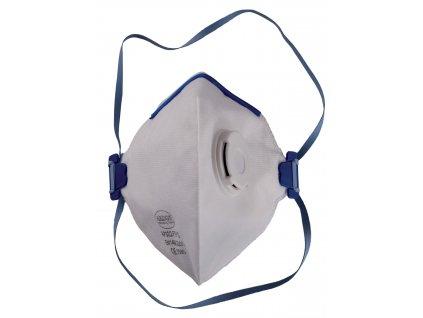 Skládaný respirátor s výdechovým ventilkem AP322 (FFP2)