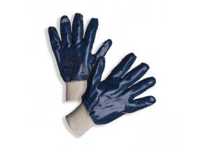 PD-321 Ochranné rukavice z šitého bavlněného úpletu celomáčené v silné vrstvě nitrilu