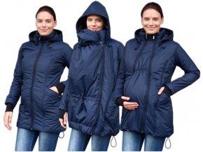 zora zimni vyteplena bunda pro tehotne a nosici zeny tm modra