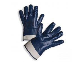 PD-323 Ochranné rukavice z šitého bavlněného úpletu celomáčené v silné vrstvě nitrilu