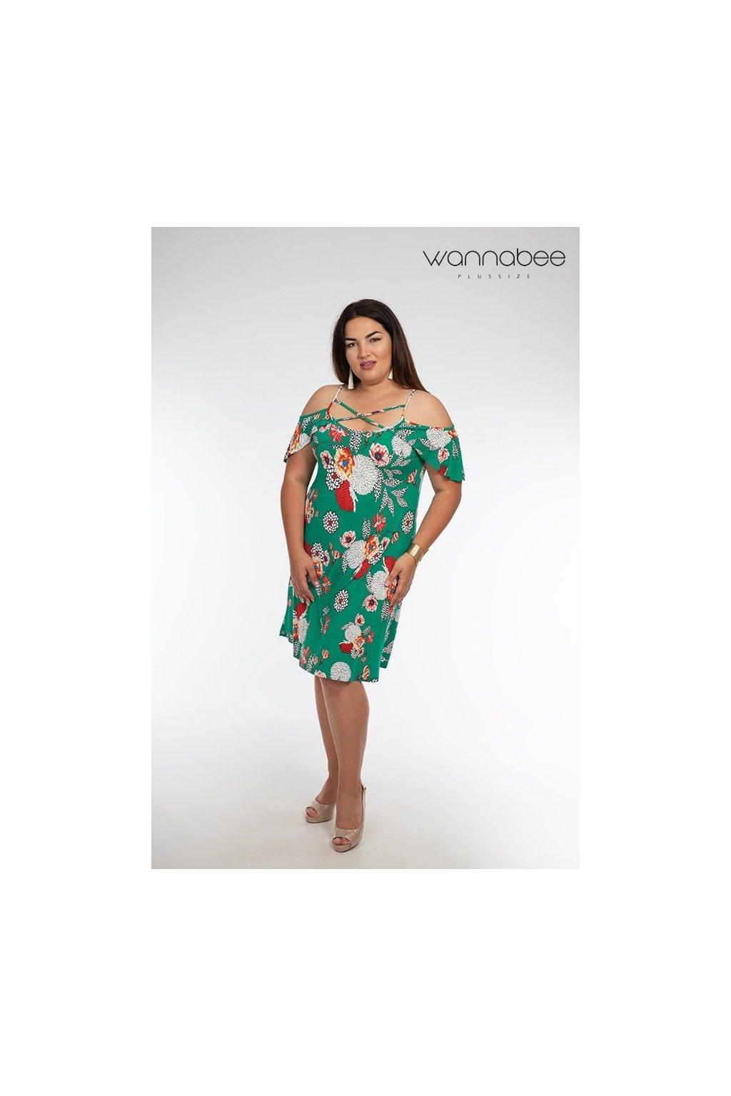 Pandi šaty zelené pre moletky