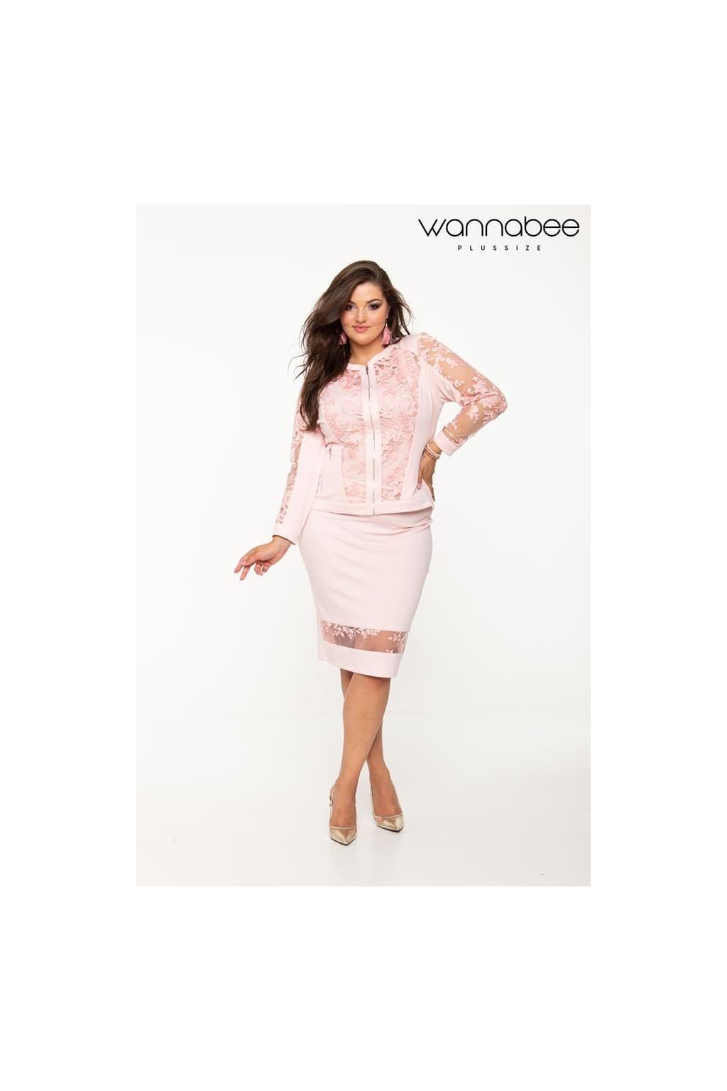 Florentina sukňa pudrová