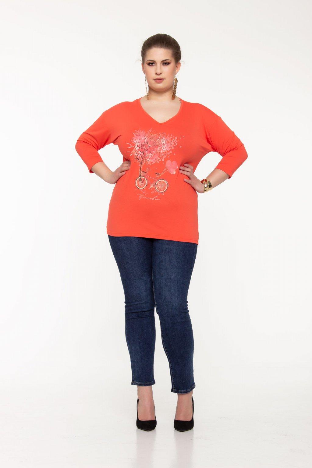 Ruby tričko lososové