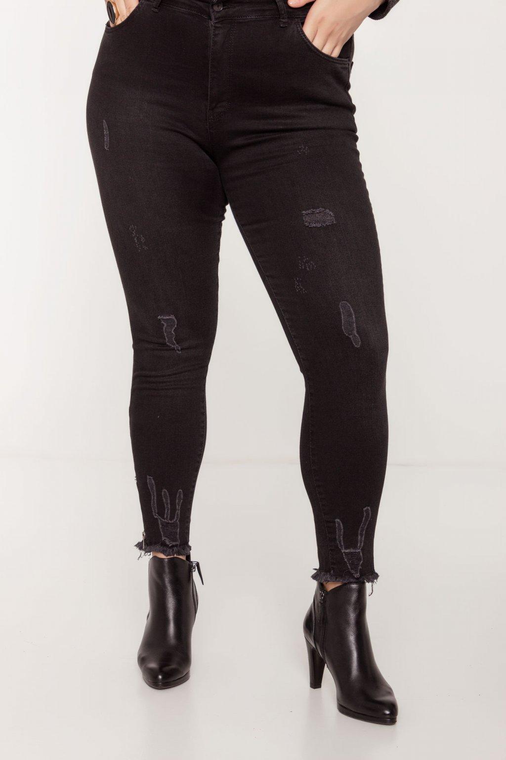 Anastázia riflové nohavice čierne