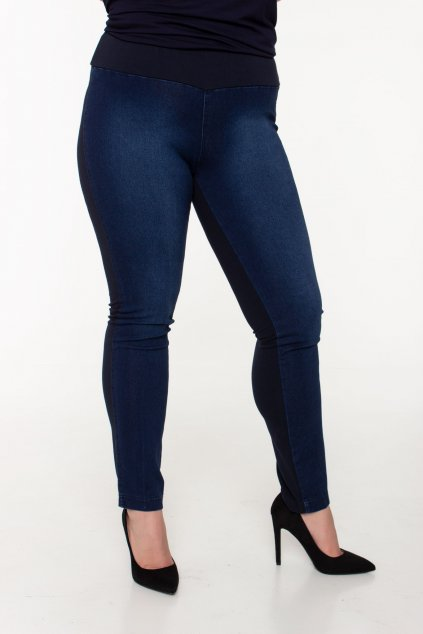 Manga riflové nohavice modré