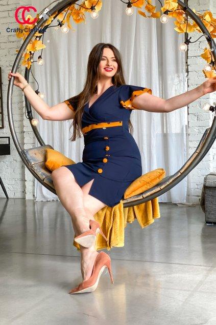Jenny šaty okker W