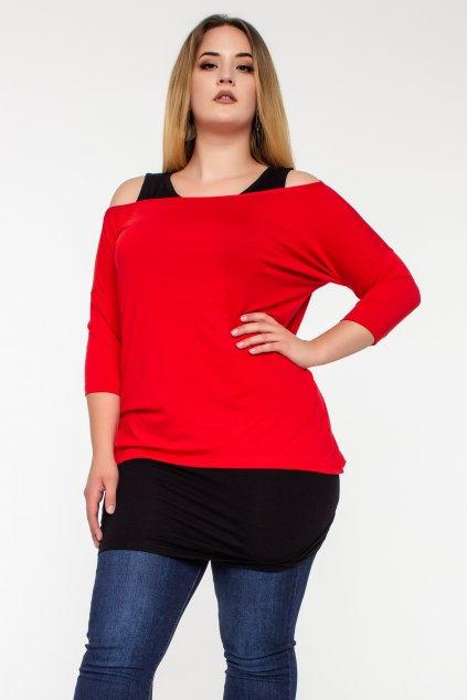 Erika blúzka červená s tričkou