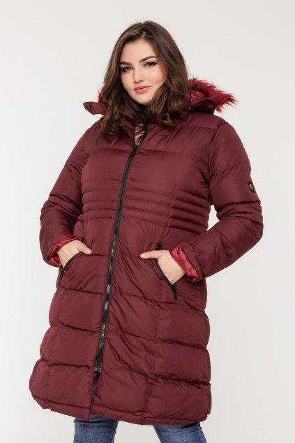 Kinga zimná bunda bordová