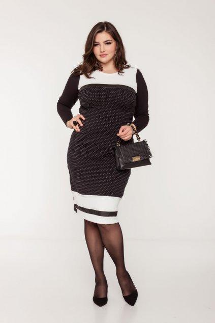 Semi šaty čierne
