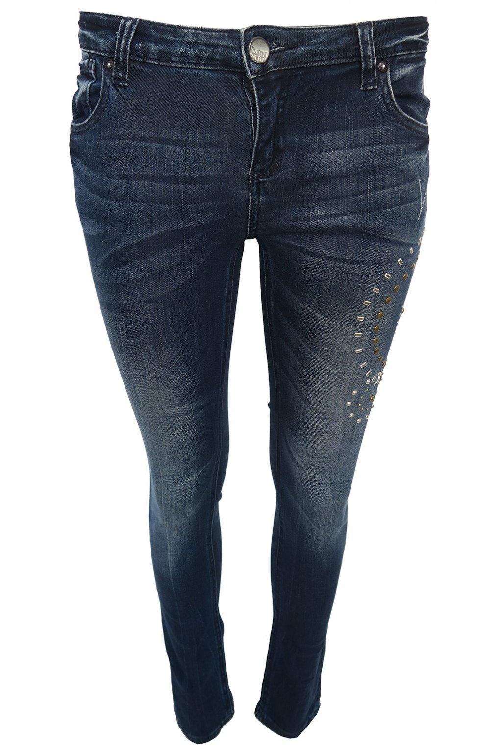 Desigual džíny se stříbrnými aplikacemi