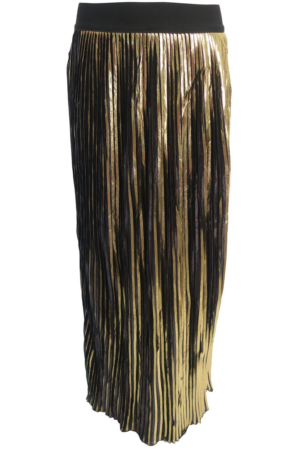 Zlatá sukně s černými pruhy Pimkie