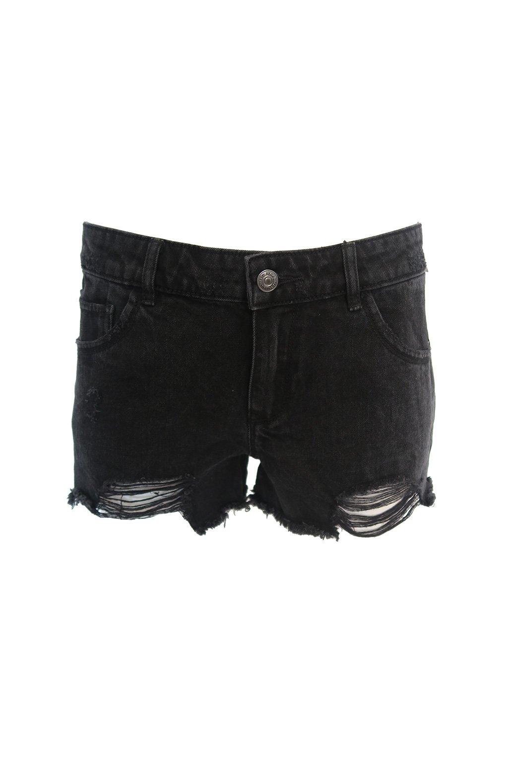 Černé džínové kraťasy Pimkie