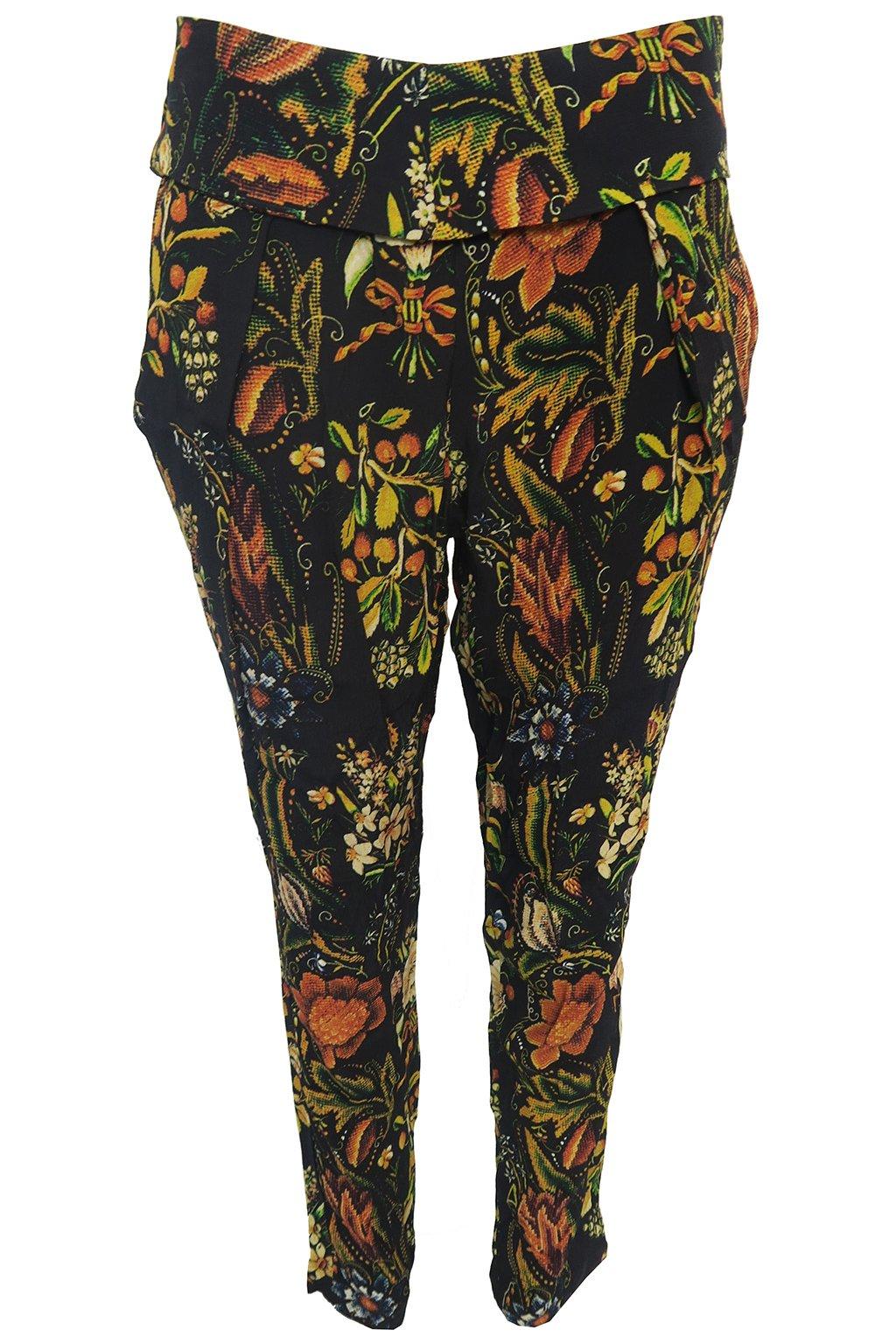 Lehké květované kalhoty Desigual