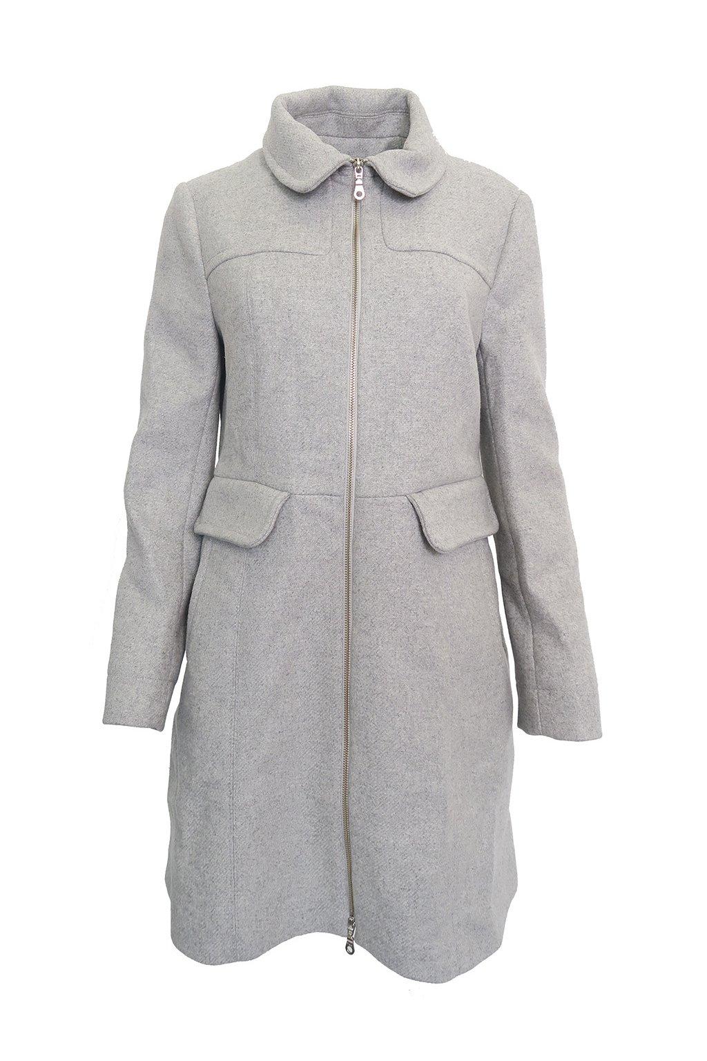 Šedý kabát Kookaï