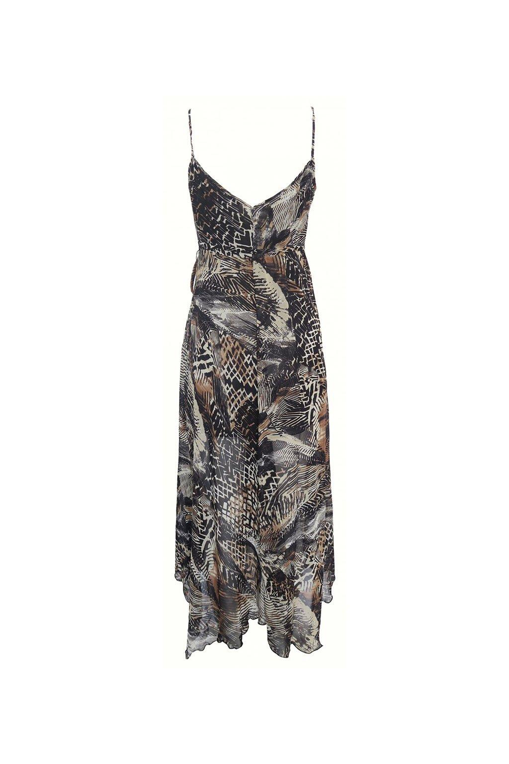 Dlouhé strakaté šaty Sandro Ferrone
