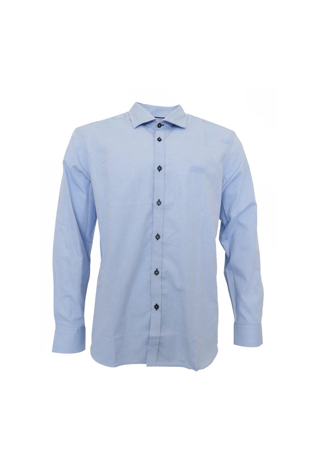 Galvanni košile modrá s černými knoflíčky