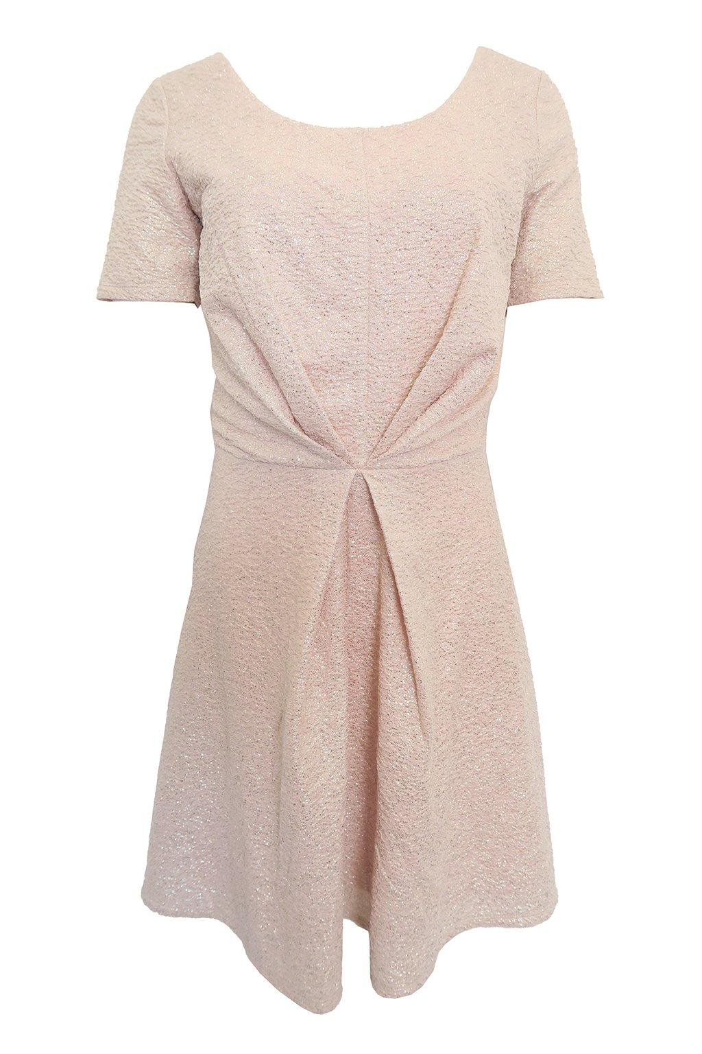 Pudrové třpytivé šaty Morgan