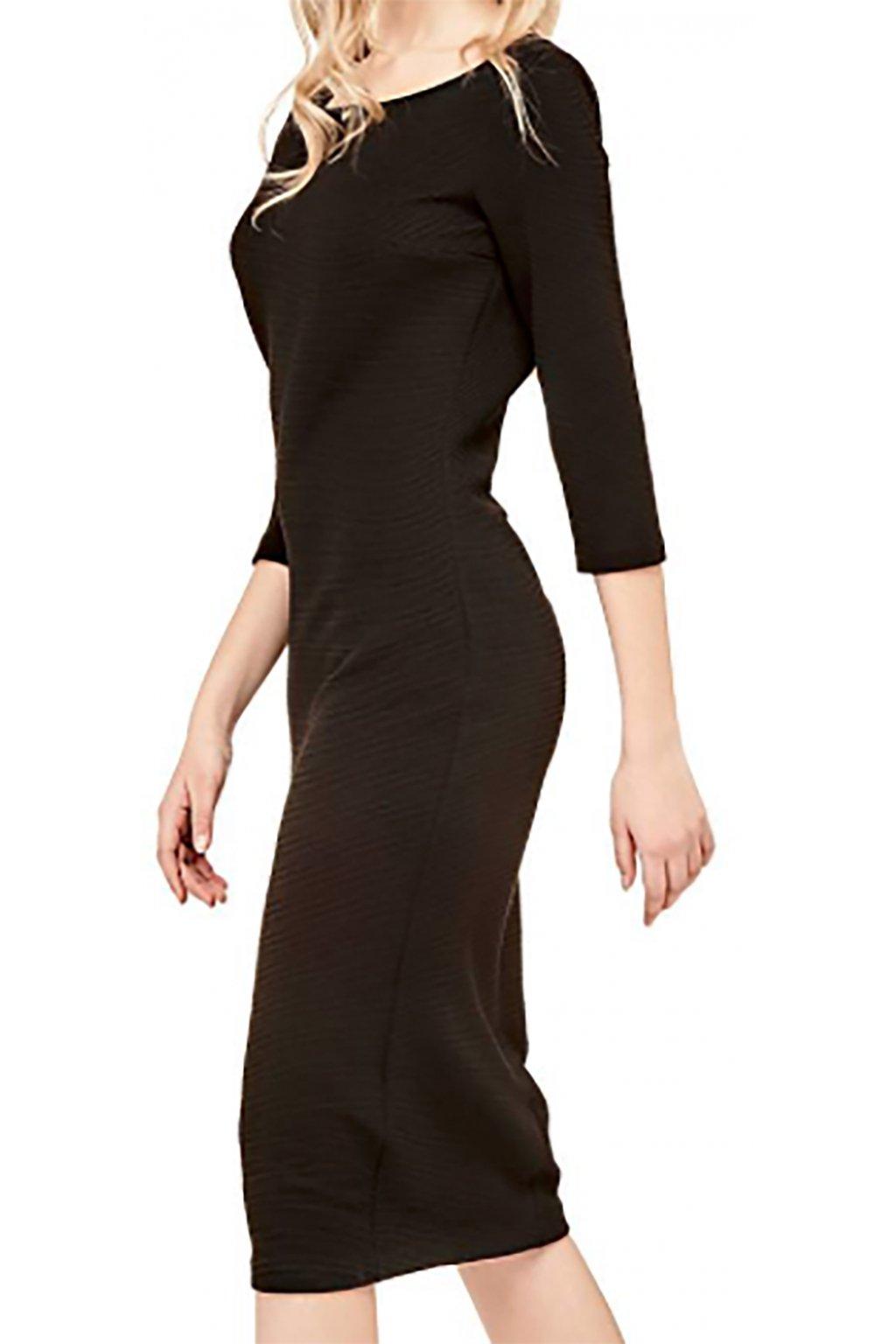 Dlouhé černé šaty Guess