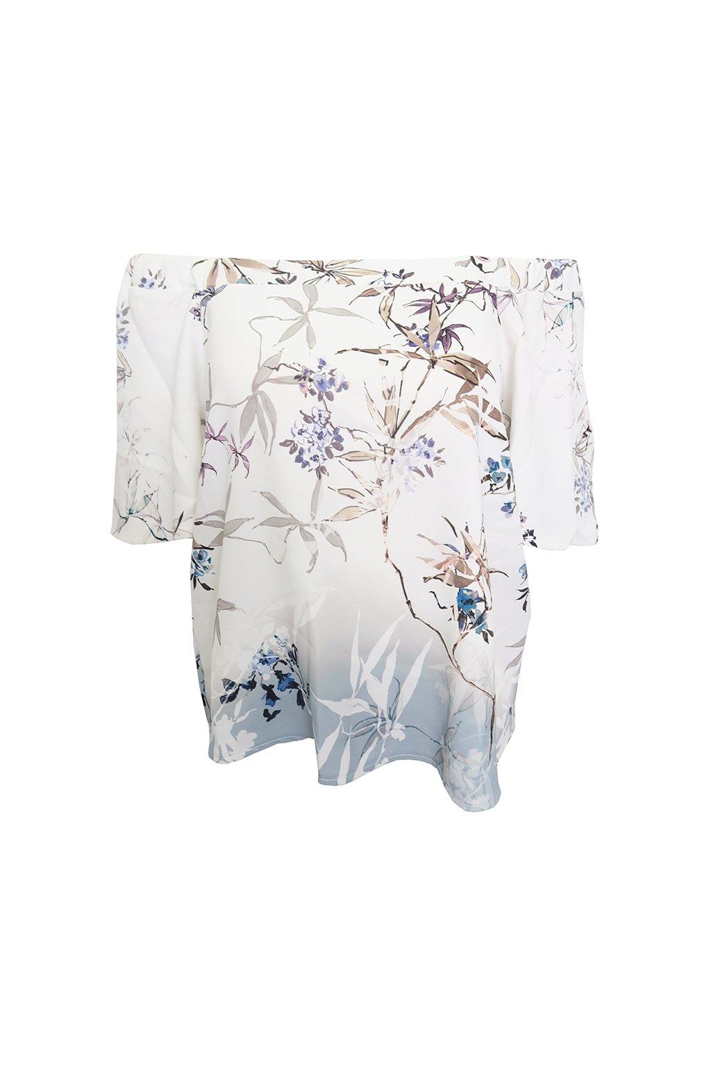 Bílá halenka s květy