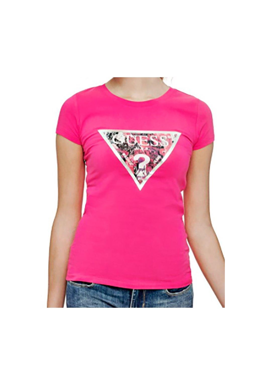Tričko s barevným logem Guess