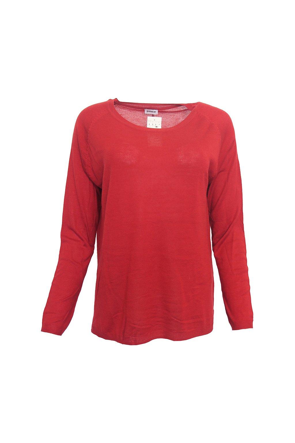 Tenký červený svetřík PIMKIE