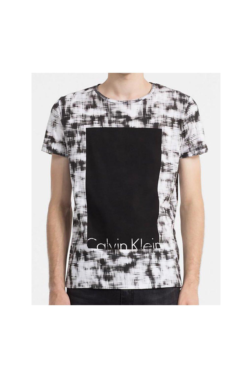 Pánské tričko Calvin Klein žíhané