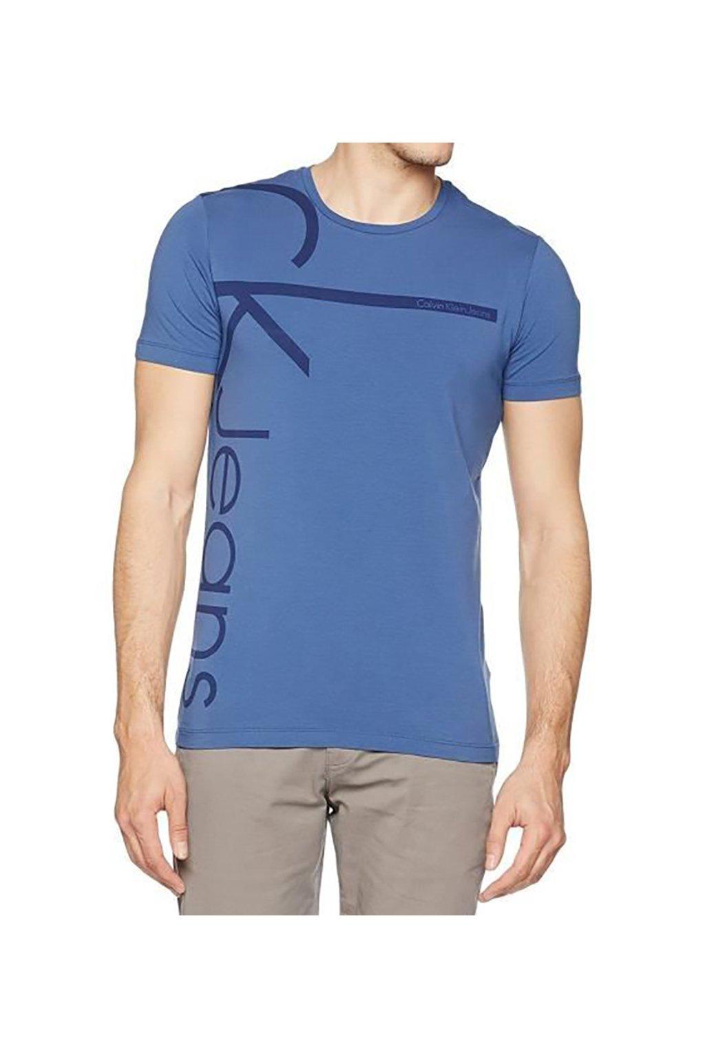 Modré pánské tričko Calvin Klein
