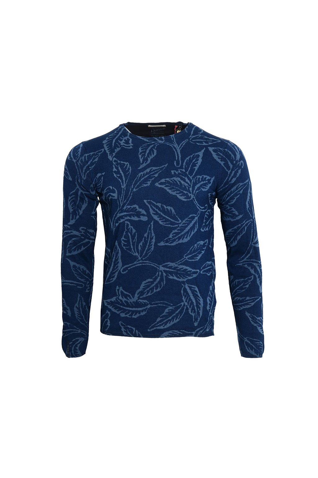 Květovaný modrý svetr Pepe Jeans