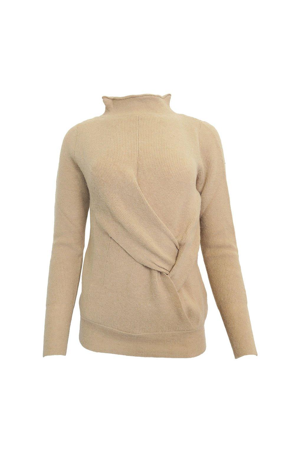 Béžový svetr s uzlíkem YAYA